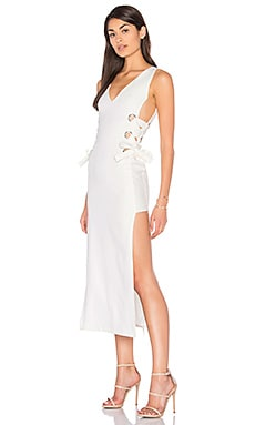 All Tied Up Russett Dress in White