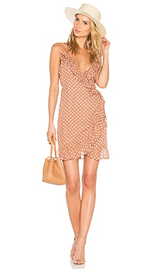Caliente Ruffle Dress in Polka Dot