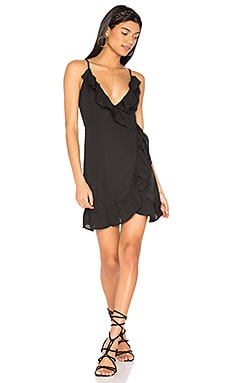 All Summer Long Ruffle Dress in Black