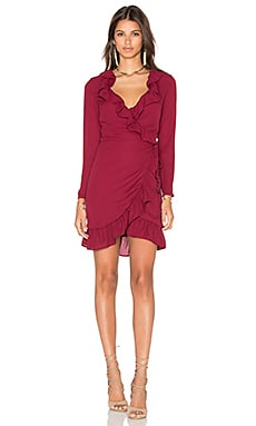 Tuscan Fling Ruffle Dress in Wine