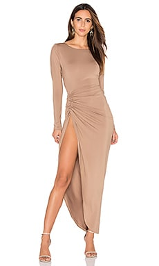 LIONESS Amore Split Maxi Dress in Nude