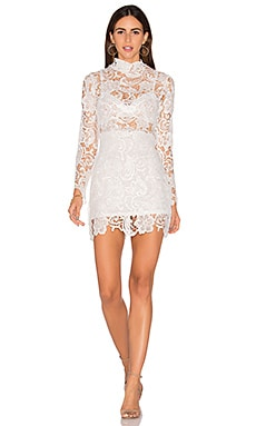 Falling For Florence Lace Dress in White