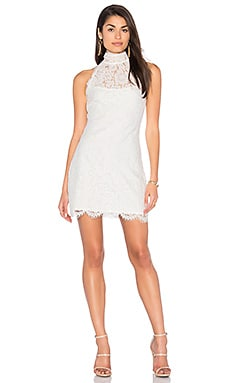 Dancing with Fame Lace Mini Dress in White
