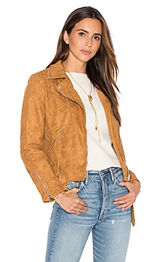 LIONESS Made For Milan Suede Biker Jacket