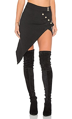 Palermo Asymmetric Skirt in Black