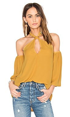 Cristobal Off Shoulder Top in Mustard
