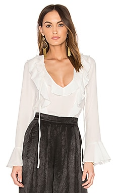 Fontana Ruffle Top in White