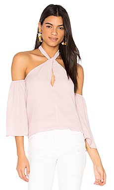 Forever Flirting Shoulder Top in Blush