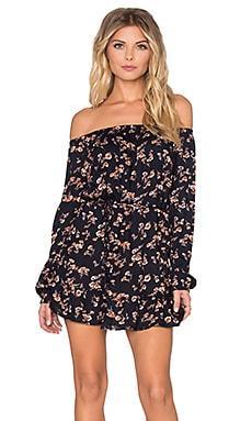 Lisakai Vera Off Shoulder Dress in Flower
