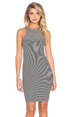 Lisakai Titi Open Side Dress in Black & White Stripe