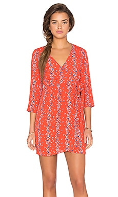 Lisakai Isla Wrap Dress in Red Floral Print