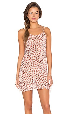 Lisakai Floral Print Shift Dress in Cream Floral Print