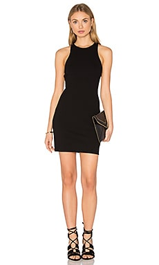 Rib Cut Out Dress in Black