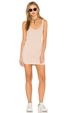 Rib Dress in Tan