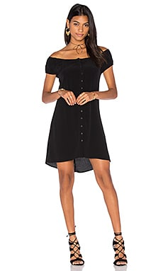 Lisakai Button Dress in Black
