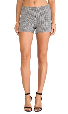 Lisakai Tailored Checkered Shorts in Black & White