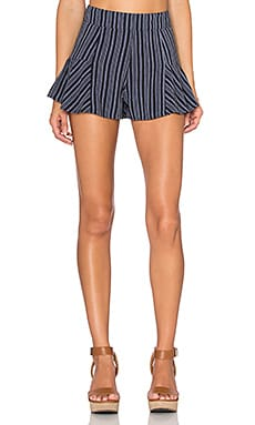 Lisakai Maui Short in Navy & Ivory Stripe