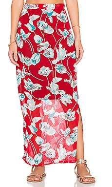 Lisakai Malika Maxi Skirt in Red
