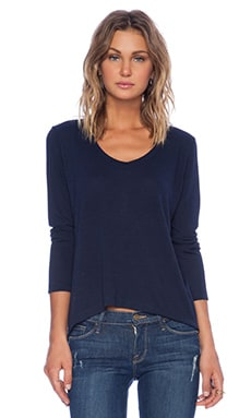 Lisa Kai Long Sleeve Tee in Navy