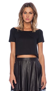 Lisa Kai Off Shoulder Crop Top in Black