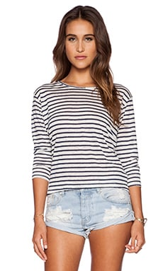 Lisakai Linda Crop Tee in Stripe