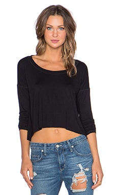 Lisakai Long Sleeve Tee in Black