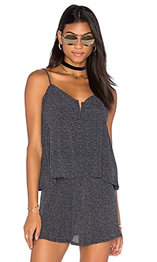 Lisakai Open Front Dot Tank in Black