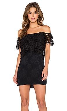 LIV Off Shoulder Dress in Black