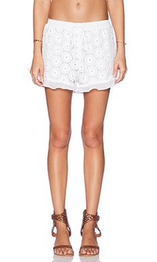 LIV Ruffle Hem Shorts in White