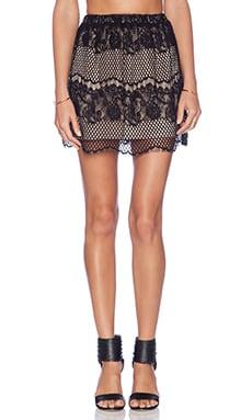 LIV Sandra Lace Skirt in Black