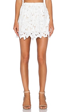LIV Shelly A Line Skirt in Ivory