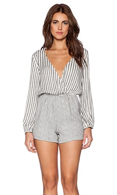 LIV Claude Romper in Stripe & Heather