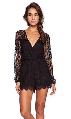 LIV Elysse Lace Romper in Black