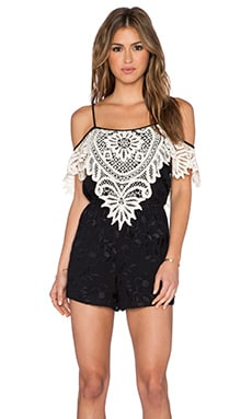 LIV Silvia Off Shoulder Romper in Black