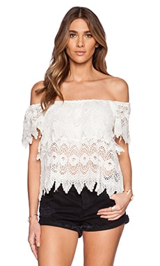 LUCY TIERED LACE TOP