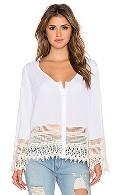 LIV Bell Sleeve Top in Ivory