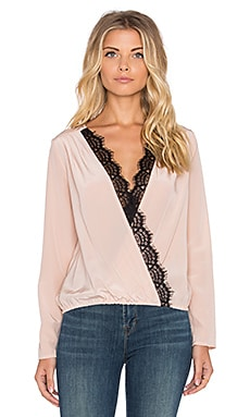 Longsleeve Cross Over Top in Blush