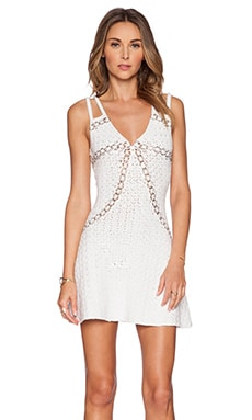 Lisa Maree It's Black Below Dress in White