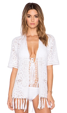 Lisa Maree The Empty Edit Kimono in White