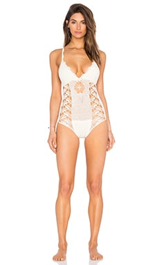 Ten Times Teddy One Piece in Cream