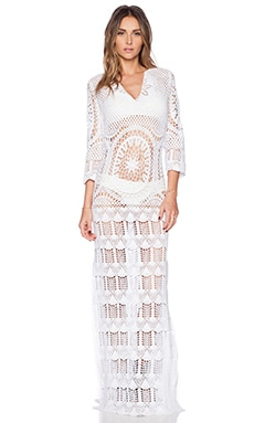 Lisa Maree London Fiction Crochet Dress in White