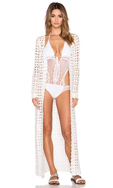 Lisa Maree Symbolic Dreams Maxi Robe in White