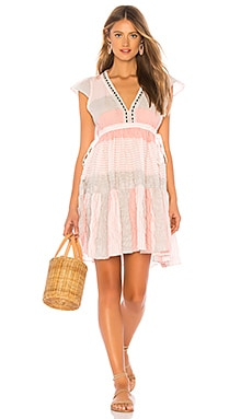 Фото - Мини платье dera - Lemlem розового цвета