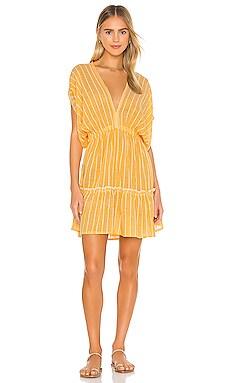 Wubet Short Plunge Neck Dress Lemlem $295