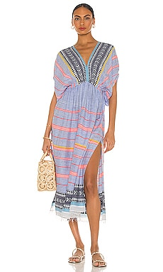 Neela Plunge Neck Dress Lemlem $395