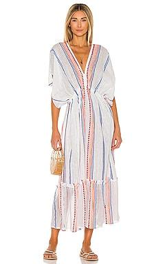 Hiwot Plunge Neck Dress Lemlem $395 BEST SELLER