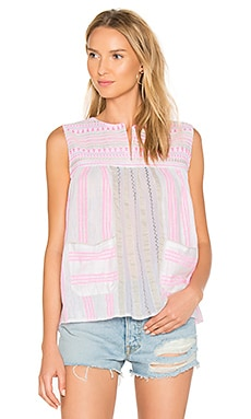 Edna Smock Top in Pink