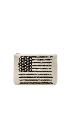 Lauren Moshi Gem Flag iPad Clutch in Natural