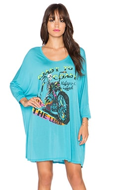 Lauren Moshi Milly The Legend Oversized Dress in Jamaica Blue