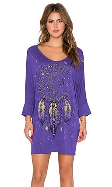 Lauren Moshi Milly Large Moon Dreamcatcher Oversized Dress in Purple Grape